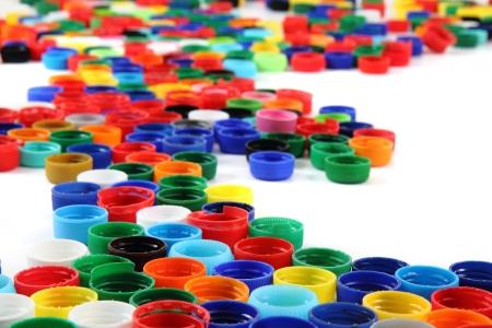 re design: plastic color caps as nice rainbow background