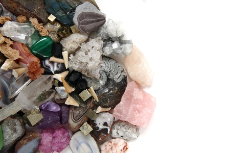 color gems as very nice natural mineral background photo