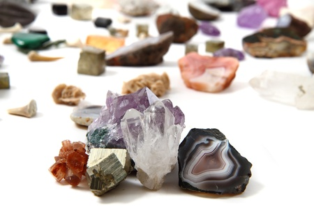 color gems as very nice natural mineral background