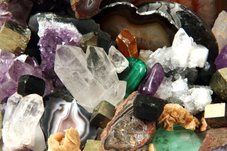 minerals and gems as very nice natural background photo
