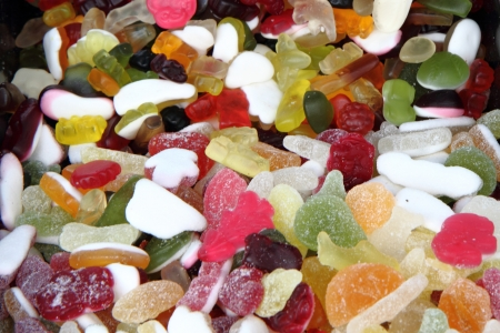 color candies as very easy sugar background