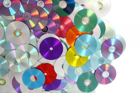 cd rw: CD and DVD as very nice technology background
