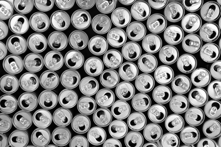 empty cans as very nice metal background photo