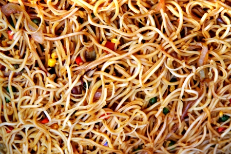 china noodles as very nice food background photo