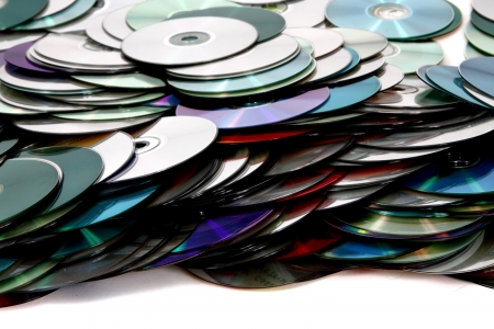cd rw: cd and dvd as nice technology background