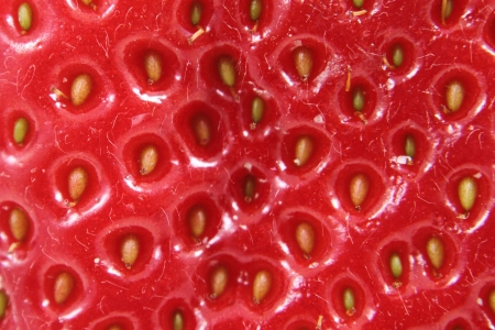 nice food: detail of strawberry as nice food background
