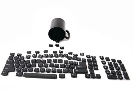 function key: keyboard from alphabet, signs, numbers, keyboard keys  Stock Photo