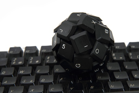 function key: keyboard sphere as new input device for your computer isolated on the white background