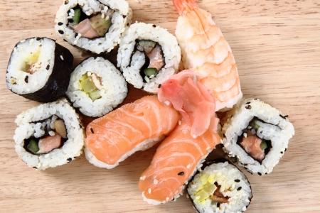 geisha sushi as very nice food background
