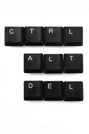 function key: keyboard keys - ctrl, alt, del isolated on the white background