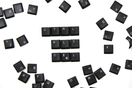 keyboard keys - ctrl, alt, del isolated on the white background photo