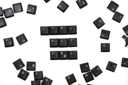 alt: keyboard keys - ctrl, alt, del isolated on the white background