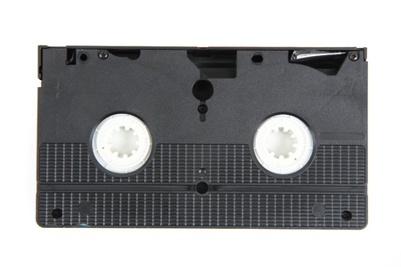 reminisce: videotape  video cassette  isolated on the white background Stock Photo