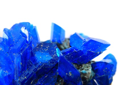 blue vitriol mineral isolated on the white background photo