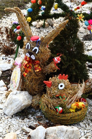 czech easter decoration as very nice holiday symbol photo