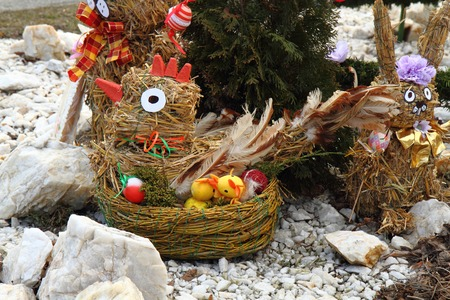 holiday symbol: czech easter decoration as very nice holiday symbol Stock Photo