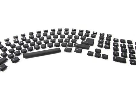 ergonomic keyboard isolated on the white background
