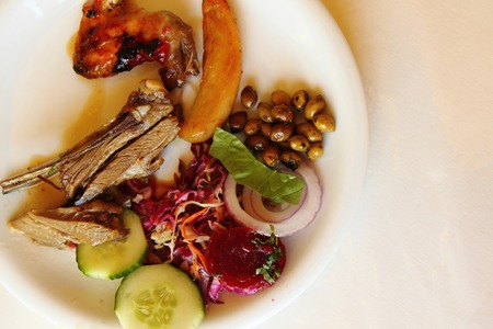 greece meat food as nice gourmet background photo