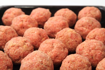 beef meat: raw meatballs as very nice and easy food background