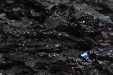 syntetic corundum mineral detail  photo