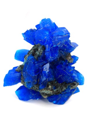 blue vitriol mineral isolated on the white  photo