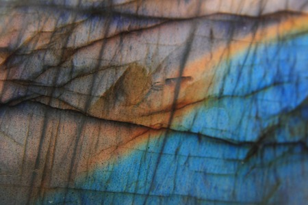 blue and yellow labradorite texture as natural mineral background Stock Photo - 26461441