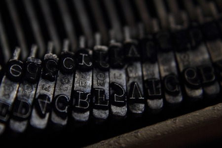 old typing machine as nice technology background photo