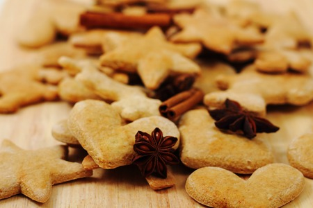 traditional czech gingerbread as nice holiday food background photo