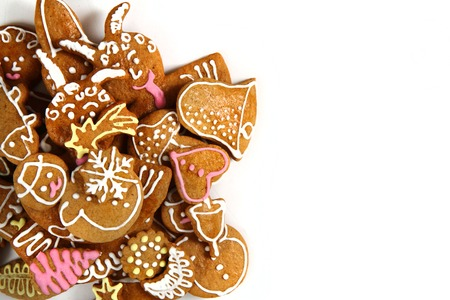holiday food: traditional czech gingerbread as nice holiday food background