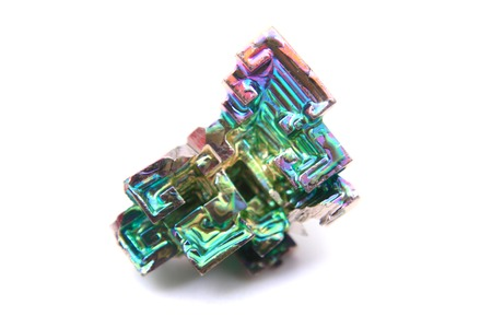 bismuth: bismuth  bismuthium  metal isolated on the white background Stock Photo