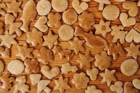 nice food: Homemade christmas gingerbreads as very nice food background Фото со стока