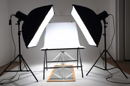 Mys kleine product fotostudio (nu leeg) Stockfoto - 32269711