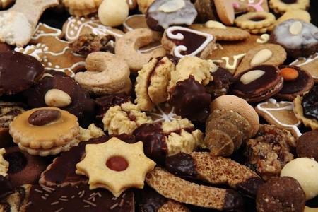 nice food: Рождественское печенье и десерты как приятный фон пищевой