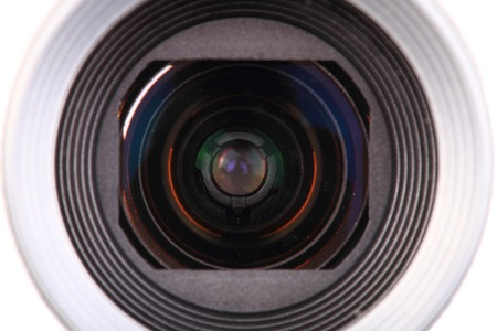 audiovisual: camera lens as nice photo technology background Stock Photo