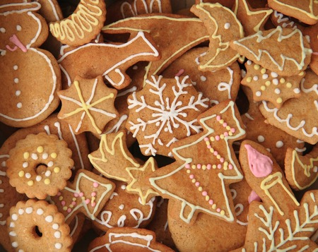 holiday food: traditional czech christmas gingerbread as nice holiday food background