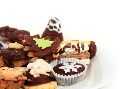 holiday food: traditional czech christmas cookies as nice holiday food background Stock Photo