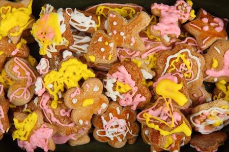keywords background: czech homemade gingerbread as nice christmas background