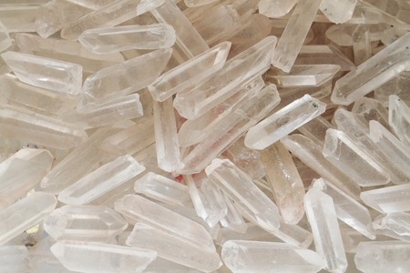 white crystals as nice natural mineral background