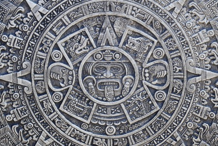 Textura historia azteca tan bonito fondo de piedra Foto de archivo - 34606955