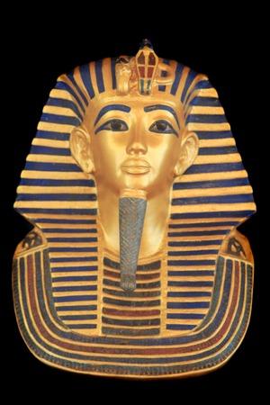pharoah: Tutankhamuns sarcophagus - detail of pharao history