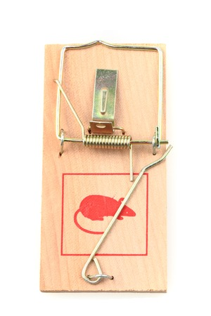exterminate: new mouse trap isolated on the white background