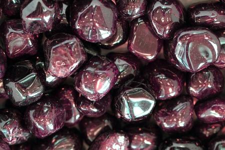 garnets: red garnets gems as nice mineral background
