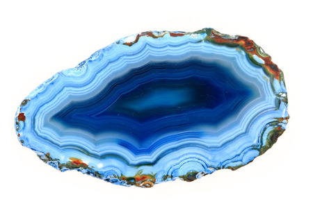 agate slice isolated on the white background Banque d'images