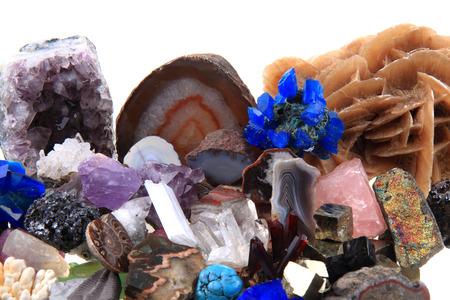 自然の背景として色鉱物や宝石コレクション 写真素材