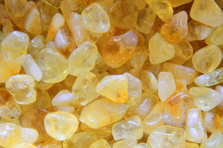 gemology: yellow citrine mineral as nice natural background
