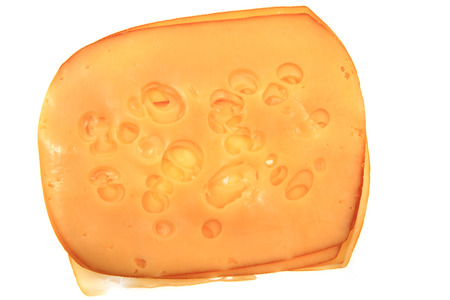 gouda: emental cheese isolated on the white background