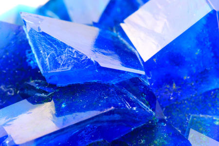 sulfate: blue vitriol mineral as nice mineral background Stock Photo