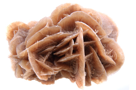 crystallize: desert rose mineral isolated on the white background
