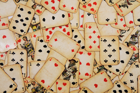cards poker: old playing cards as nice casino background