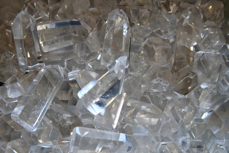crystal background: crystal quartz texture as very nice mineral background Stock Photo